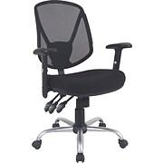 Staples® Acadia™ Ergonomic Mesh Task Mid-Back Chair, Black
