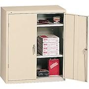 """HON® Brigade®, 3-Shelf Assembled Storage Cabinets, 42""""H x 36""""W x 18""""D, Putty"""