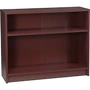 HON® 1870 Series Wood Laminate Bookcases - 2-Shelf, Mahogany