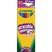 Crayola® Eraseable Colored Pencils, 10/Box