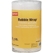 "Staples® Standard Bubble Wrap®, 12"" x 25'"