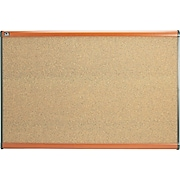 Quartet® Prestige® Colored Cork Bulletin Boards with Light Cherry Frames
