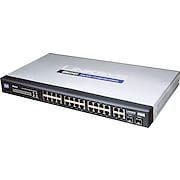 Cisco SRW224G4 24-port 10/100 + 4-port Gigabit Switch - WebView<BR>