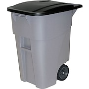 Rubbermaid Square Brute® Big Wheel 50-Gallon Container with Lid