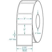 3 x 2 White Permanent Adhesive Thermal Transfer Roll Zebra Compatible Label/Ribbon Kit
