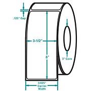 3-1/2 x 8 White Permanent Adhesive Thermal Transfer Roll Zebra Compatible Label/Ribbon Kit
