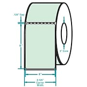 4 x 6 Perfed Green Permanent Adhesive Thermal Transfer Roll Zebra Compatible Label/Ribbon Kit