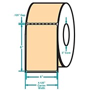4 x 6 Perfed Orange Permanent Adhesive Thermal Transfer Roll Zebra Compatible Label/Ribbon Kit