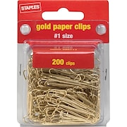 Staples® Gold Paper Clips