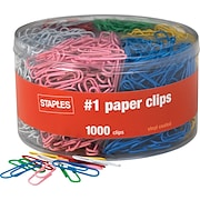Staples® Vinyl-Coated Paper Clips