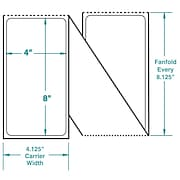 4 x 8 Perfed White Permanent Adhesive Thermal Transfer Fanfold Zebra Compatible Label/Ribbon Kit