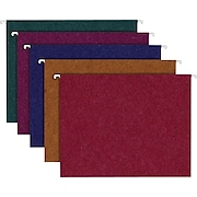 Ampad® Envirotec™ 100% Recycled Hanging Files, Letter, 5 Tab, Assorted Colors, 20/Box