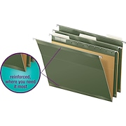 Staples® <span style=color:green>100% Recycled</span> Reinforced Hanging File Folders