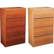 "HON® 10700 Series 36"" Wide 4 Drawer Lateral Wood File/Storage Cabinets"