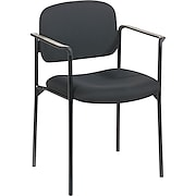 basyx™ by HON Fabric Stacking Guest Arm Chair, Black