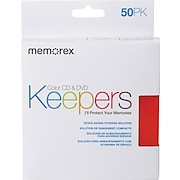 Memorex CD/DVD Assorted Color Keepers, 50/Pack