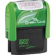 2000 PLUS® Green Line Self-inking Stamp, Faxed