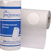 Preference® Perforated Paper Towel Rolls, 2-Ply, 30 Rolls/Case