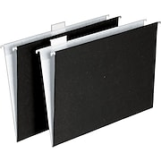 Ampad® Envirotec™ 100% Recycled Hanging File Folders, Letter size, Black/White