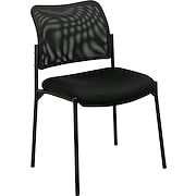 basyx™ by HON Armless Mesh Stacking Chair, Black