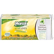 Marcal ® Small Steps ® <span style=color:green>100% Recycled</span> Paper Napkins, 1-Ply, 400/Pack