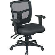 Office Star™ Ergonomic Pro Grid Mid-Back Task Chair, Black