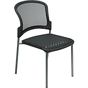 Office Star™ ProGrid® Stack Chair, Black, 2/Pack