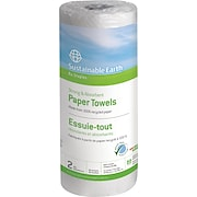 Sustainable Earth by Staples® Perforated Paper Towel Rolls, 2-Ply, 15 Rolls/Case
