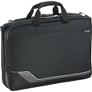 """SOLO® Vector Collection CheckFast™ Laptop Clamshell, Black, 17"""""""