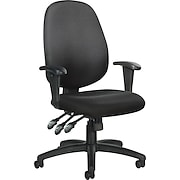 Global® Multi-Function Fabric Ergonomic Mid-Back  Task Chair , Black