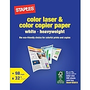 "Staples® Color Laser and Copier Paper, 8 1/2"" x 11"", Ream"