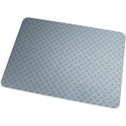 "Floortex Ripple Grey Polycarbonate Chairmat, Rectangular, 36""x48"""