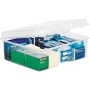 Staples® Clear Plastic Snap Case
