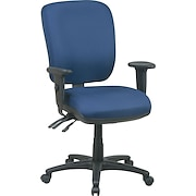Office Star Mid-Back Fabric Dual Function Ergonomic Task Chairs with 2-Way Adjustable Arms