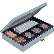 MMF Industries™ Steel Cash Box with Security Lock