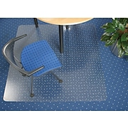 Floortex Polycarbonate Chairmat for Low- to Med-Pile Carpets, Rectangular