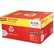 """Staples® 30% Recycled Copy Paper, 8 1/2"""" x 14"""",  Case"""