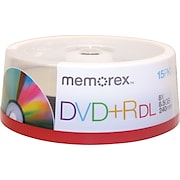 Memorex™ 15/Pack 8.5GB DVD+R DL, Spindle