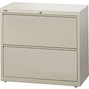 """Staples® HL8000 Commercial 30"""" Wide 2-Drawer Lateral File/Storage Cabinet, Putty"""