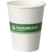 Sustainable Earth By Staples® Compostable Hot Cups and Lids