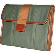 """Nuo™ Eco-Friendly Canvas iPad-Tablet Sleeve, Olive, 10.2"""""""