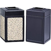 Safco® Trophy Collection™ Outdoor Series Plastic Receptacles